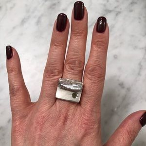 Jewelry - Sterling Silver freshwater Pearl and Gem Ring